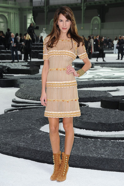 Caroline Sieber attends the Chanel Ready to Wear Spring/Summer 2011 show during Paris Fashion Week at Grand Palais on October 5, 2010 in Paris, France.