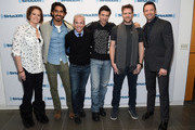 Sigourney Weaver, Dev Patel, Jess Cagle, Sharlto Copley, Neill Blomkamp and Hugh Jackman attend the SiriusXM's Entertainment Weekly Special on March 5, 2015 in New York City.