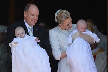 Charlene Wittstock Baptism of the Princely Children at The Monaco Cathedral