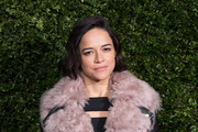Michelle Rodriguez attends the Charles Finch & Chanel pre-BAFTA's dinner at Loulou's on February 09, 2019 in London, England.