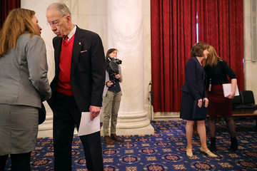 Charles Grassley Sen. Feinstein Holds News Conf. With Sexual Abuse Survivors of Dr. Larry Nassar
