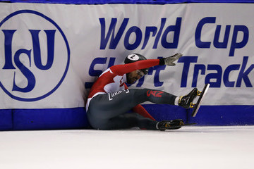 Charles Hamelin ISU World Cup Short Track - Calgary Day 2