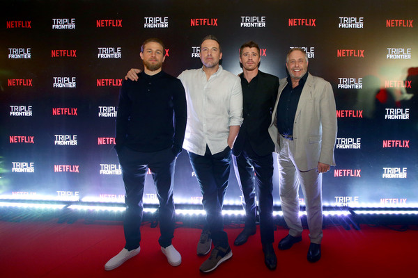 'Triple Frontier' Fan Event In Singapore [red,premiere,event,technology,carpet,electronic device,red carpet,performance,brand,chuck roven,garret hedlund,ben affleck,charlie hunnam,singapore,triple frontier,the shoppes in marina bay sands,triple frontier fan event,fan event,premiere]