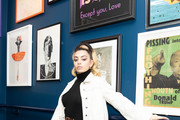 Mentor, Charli XCX attends Nasty Cherry performing at members' club The Curtain, Shoreditch, on November 19, 2019 in London, England. Docuseries 'I'm With the band: Nasty Cherry' was released on Netflix November 15, 2019.