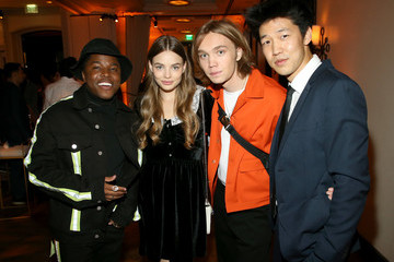 Charlie Plummer Denny Love Hulu Holiday Party 2019
