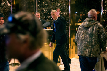 Charlie Rose President-Elect Donald Trump Holds Meetings At His Trump Tower Residence In New York