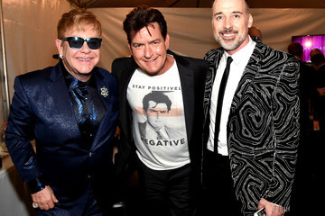 Charlie Sheen 24th Annual Elton John AIDS Foundation's Oscar Viewing Party - Red Carpet