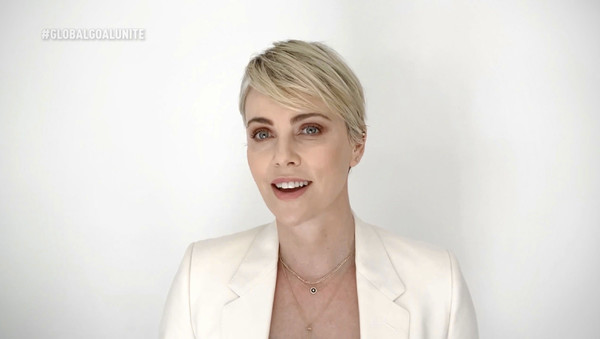 Global Goal: Unite For Our Future - Summit & Concert [unite for our future - summit concert,global goal: unite for our future - summit concert,goal,screengrab,unspecified,united states,charlize theron]