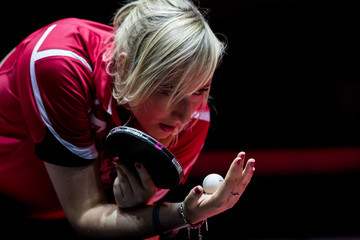Charlotte Carey Table Tennis World Championship - Day 3