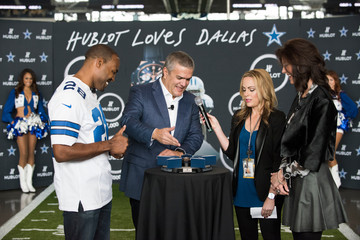 Charlotte Jones Anderson Hublot Unveils Big Bang Dallas Cowboys Timepieces with Dallas Cowboys Legend Darren Woodson