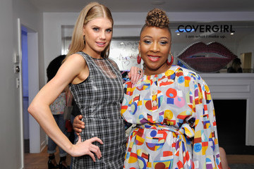 Charlotte McKinney COVERGIRL Hosts A Sneak Peek Into Its Fall 2018 Makeup Line With COVERGIRL'S SVP, Ukonwa Ojo