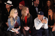 Nicky Hilton, Russell Simmons and Angela Simmons attend the Charlotte Ronson Fall 2012 fashion show during Mercedes-Benz Fashion Week at The Stage at Lincoln Center on February 10, 2012 in New York City.