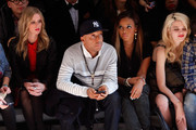 Nicky Hilton, Russell Simmons, Angela Simmons and Sky Ferreira attend the Charlotte Ronson Fall 2012 fashion show during Mercedes-Benz Fashion Week at The Stage at Lincoln Center on February 10, 2012 in New York City.