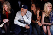 (L-R) Nikki Hilton, Russell Simmons, Angela Simmons and Sky Ferreira attend the Charlotte Ronson Fall 2012 fashion show during Mercedes-Benz Fashion Week at The Stage at Lincoln Center on February 10, 2012 in New York City.