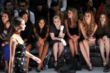 Angela Simmons Nicky Hilton Charlotte Ronson - Front Row - Spring 2012 Mercedes-Benz Fashion Week