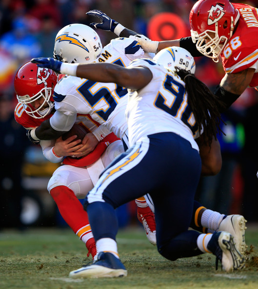 San Diego Chargers Chiefs: Chase Daniel And Melvin Ingram Photos Photos