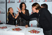 (L-R) Television personality  Jessica Canseco Nicole Murphy, Celebrity Hair Stylist Chaz Dean arrive at Chaz Dean's Holiday Party Benefitting the Love is Louder Movement on December 1, 2012 in Los Angeles, California.