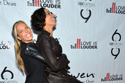 Television Personalities Jessica Canseco and Nicole Murphy arrive at Chaz Dean's Holiday Party Benefitting the Love is Louder Movement on December 1, 2012 in Los Angeles, California.