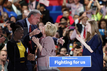 Chelsea Clinton Hillary Clinton Holds New York Primary Night Gathering in Manhattan
