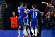 Willian and Diego Costa Photos Photo
