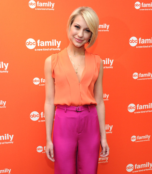 Chelsea Kane Actress Chelsea Kane attends the 2012 ABC Family Upfront at the Mandarin Oriental Hotel on March 19, 2012 in New York City.