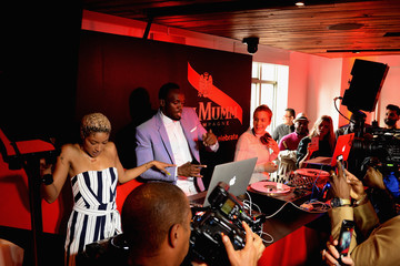 Chelsea Leyland G.H. Mumm and Usain Bolt Toast to the Kentucky Derby in New York City