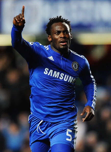 Michael Essien Michael Essien of Chelsea celebrates as he scores their first goal during the UEFA Champions League Group D match between Chelsea and Apoel Nicosia at Stamford Bridge on December 8, 2009 in London, England.