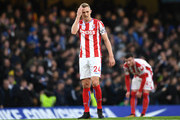 Darren Fletcher of Stoke City looks dejected during the Premier League match between Chelsea and Stoke City at Stamford Bridge on December 30, 2017 in London, England.
