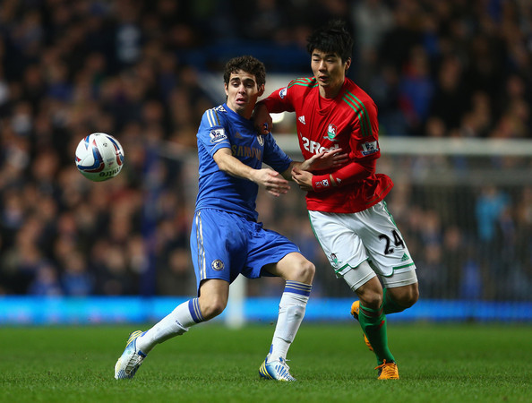 ... Capital One Cup Semi-Final first leg match between Chelsea and Swansea