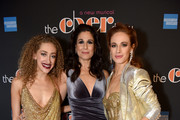 "(L-R) Micaela Diamond, Stephanie J. Block, and Teal Wicks pose at ""The Cher Show"" Broadway Opening Night - After Party at Pier 60 on December 03, 2018 in New York City."