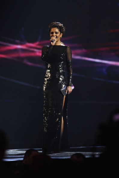 Cheryl Cole (UK TABLOID NEWSPAPERS OUT) Cheryl Cole presents the International Female Award onstage at The Brit Awards 2011 held at The O2 Arena on February 15, 2011 in London, England.