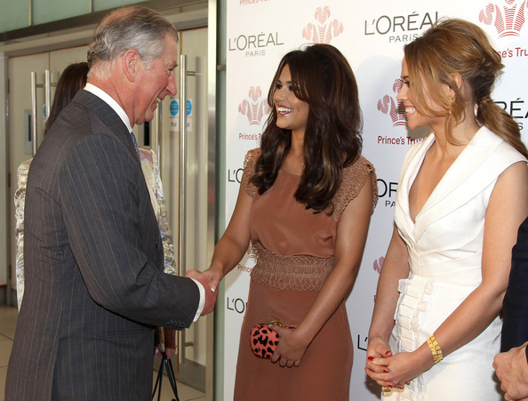 Cheryl Cole Cheryl Cole and Kimberley Walsh meet Prince Charles, Prince of Wales during The Prince's Trust Celebrate Success Awards at Odeon Leicester Square on March 23, 2011 in London, England.