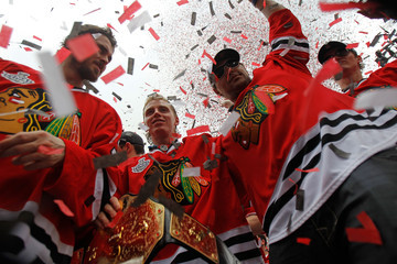 Partick Kane Chicago Blackhawks Victory Parade