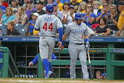 Anthony Rizzo #44 of the Chicago Cubs celebrates after scoring on a ground out in the first inning against the Pittsburgh Pirates at PNC Park on August 1, 2018 in Pittsburgh, Pennsylvania.