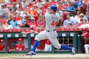 Anthony Rizzo #44 of the Chicago Cubs hits a two-run home run during the fifth inning of the game against the Cincinnati Reds at Great American Ball Park on June 24, 2018 in Cincinnati, Ohio. Cincinnati defeated Chicago 8-6.