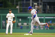 Anthony Rizzo #44 of the Chicago Cubs rounds second after hitting a home run in the seventh inning against the Pittsburgh Pirates at PNC Park on May 29, 2018 in Pittsburgh, Pennsylvania.