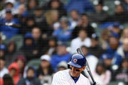 Anthony Rizzo #44 of the Chicago Cubs at bat during a game against the Chicago White Sox at Wrigley Field on May 11, 2018 in Chicago, Illinois.  The Cubs defeated the White Sox 11-2.