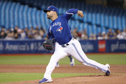 Jaime Garcia #57 of the Toronto Blue Jays delivers a pitch in the first inning during MLB game action against the Chicago White Sox at Rogers Centre on April 2, 2018 in Toronto, Canada.