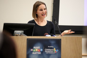 "Natalie Portman speaks during Children's Hospital Los Angeles' 5th annual ""Make March Matter"" fundraising campaign kick-off at Childrens Hospital Of Los Angeles on March 02, 2020 in Los Angeles, California."