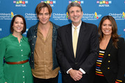 (L-R) Alex Carter, Chris Pine, Paul S. Viviano, and Dawn Wilcox attend the Children's Hospital Los Angeles fourth annual Make March Matter fundraising campaign kick-off event at Children's Hospital Los Angeles on March 04, 2019 in Los Angeles, California.