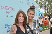 Kim Gold (L) and actress-singer Zendaya attends Children Mending Hearts 7th Annual Fundraiser Presented By Material Girl And Michael Stars on June 14, 2015 in Malibu, California.
