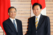 Chinese Premier Wen Jiabao (L) shakes hands with Japanese Prime Minister Yukio Hatoyama (R) at Hatoyama's official residence on May 31, 2010 in Tokyo, Japan. Wen is in Japan to discuss the bilateral relationship after East Asia three nations summit held in Jeju, South Korea.