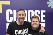 Chris O'Dowd and James Corden attend Choose Love Launches In Los Angeles On Giving Tuesday on December 3, 2019 in Los Angeles, California.
