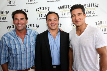 Chris Arreola Bonefish Grill Launches New Menu With Celebrity Host Mario Lopez At Private Dockside Party And Cruise in Miami