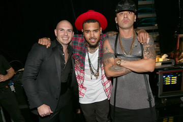 Chris Brown Backstage at the Latin Grammy Awards