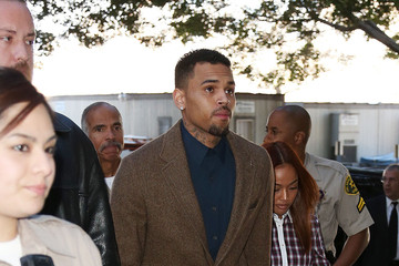 Chris Brown Karrueche Tran Chris Brown Appears in Court