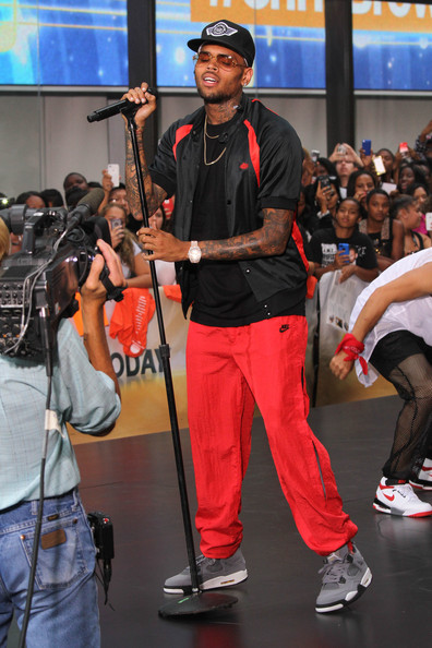 Chris Brown performs on NBC's 'Today' at the NBC's TODAY Show on August 30, 2013 in New York, New York.