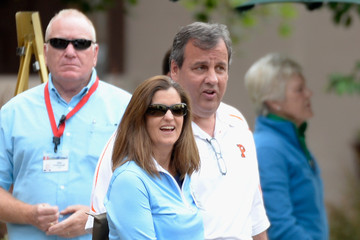 Chris Christie Mary Pat Foster Business Leaders Meet in Sun Valley for Conference