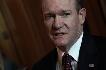 Chris Coons Senate Lawmakers Address The Media After Their Weekly Policy Luncheons