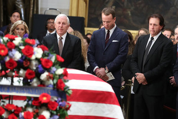 Chris Evert President George H.W. Bush Lies In State At US Capitol